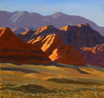 14x16 - Oil On Board - Last Light At Red Cliffs - $1,750