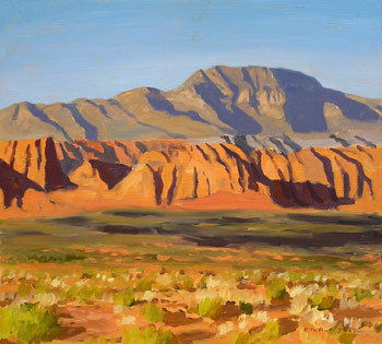 14x16, Oil on Board - Cliffs of Snow Canyon - $1,750
