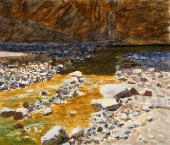 15x18 - Watercolor - Cedar Canyon Stream - $1,400