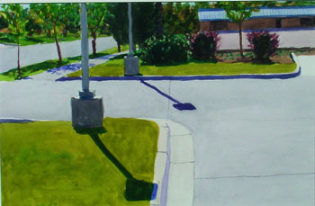 15x22 - Watercolor - Lightpoles - $1,400
