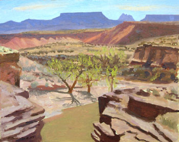 16 x 20 - Oil On Canvas - Virgin River Overlook - $1,450