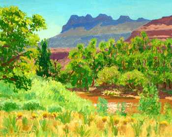 16 x 20 - Oil on Canvas - Springtime Near Zion National Park - $1,650