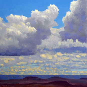 30 x 30 - Oil On Canvas - Cloud Formations - $3,600