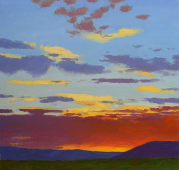 30x30 - Oil On Canvas - Sunset Plateau - $3,500