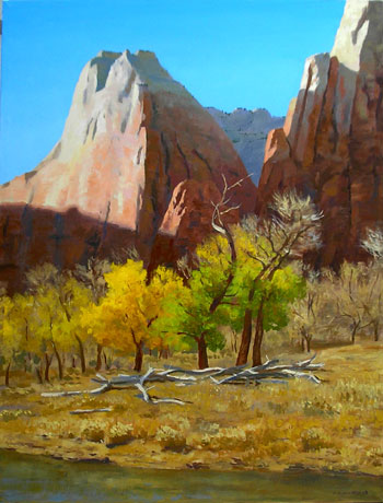 48x36 - Oil On Canvas - Patriarchs In Fall - $4,750