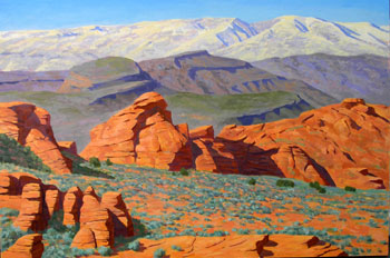48x72 - Oil On Canvas - Red Rocks of Snow Canyon - $6,750