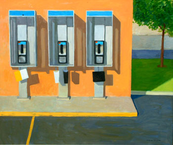 50x60 - Oil on Board - Phone Booth - $5,500