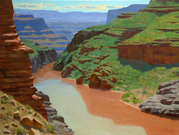 30x40 - Oil on Canvas - Colorado River in the Grand Canyon - $3,900